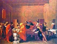 Последние помазание. 30-е гг. XVII в. Худож. Н. Пуссен (Лувр, Париж)