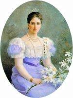 Вел. кнг. Елисавета Феодоровна. Портрет. 1898 г. Худож. Ф. И. Рерберг (ГИМ)