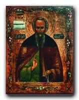 Прп. Варнава Ветлужский. Икона. XIX в. (Ц. во имя прп. Варнавы Ветлужского в пос. Варнавино)