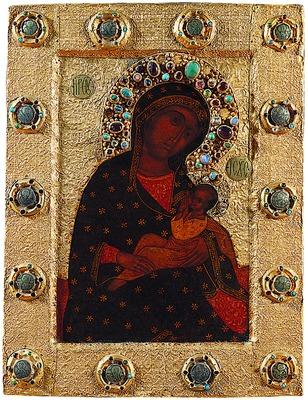 Барловская БЛАЖЕННОЕ ЧРЕВО икона Божией Матери. Изображение сайта www.pravenc.ru
