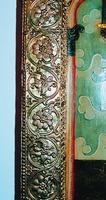 Басменный оклад иконы «Никола Можайский». 2-я пол. XVI в. (ГТГ). Фрагмент