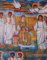 Благовещение. Мозаика ц. Санта-Мария Маджоре в Риме. 432-440 гг.