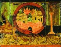 Вавилон как символ греха (Откр 17. 5). Фрагмент иконы «На реках Вавилонских». XVIII в. (ГТГ)