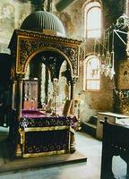 Алтарь храма Протата в Карее
