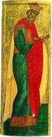 Равноап. кн. Владимир. Икона из деисусного чина. 1-я пол. XV в. (ГТГ)