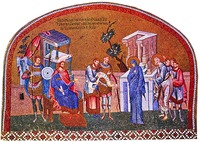 Перепись населения в Вифлееме. Мозаика мон-ря Хора (Кахрие-джами) в К-поле. 1315-1321 гг.