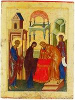 Сретение Господне. Икона из праздничного ряда иконостаса Успенского собора Кирилло-Белозерского мон-ря. 1497 г. (КБМЗ)