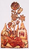 Равноапостольные имп. Константин и кн. Владимир. Резные изображения из ц. свт. Власия в Ярославле. Кон. XVII в. (ГМЗРК)