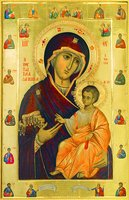 Иверская икона Божией Матери. 1995 г. Иконописец иером. Лука (Иверская часовня, Москва)